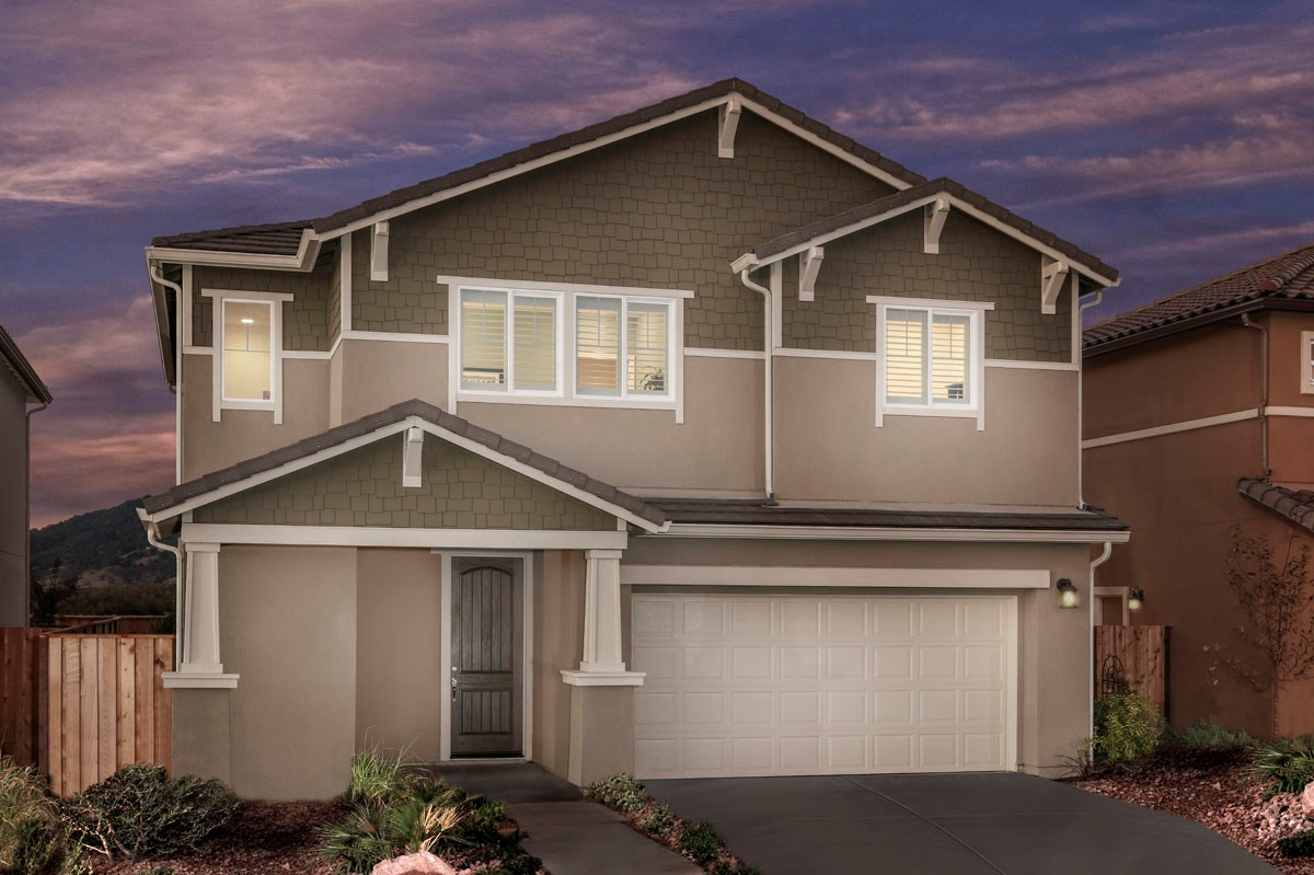 New Homes in Rohnert Park, CA - Cypress at University District Plan 1 Craftsman Elevation