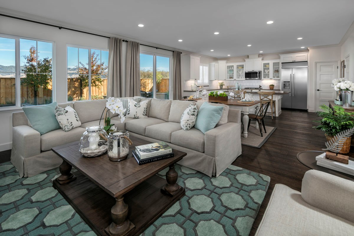 New Homes in Rohnert Park, CA - Cypress at University District Plan 1 Great Room