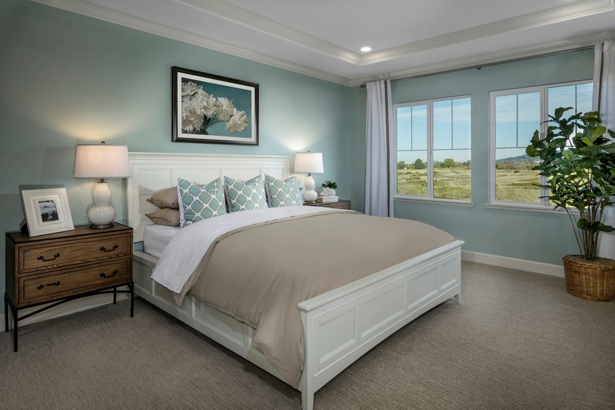New Homes in Rohnert Park, CA - Cypress at University District Plan 1 Master Bedroom