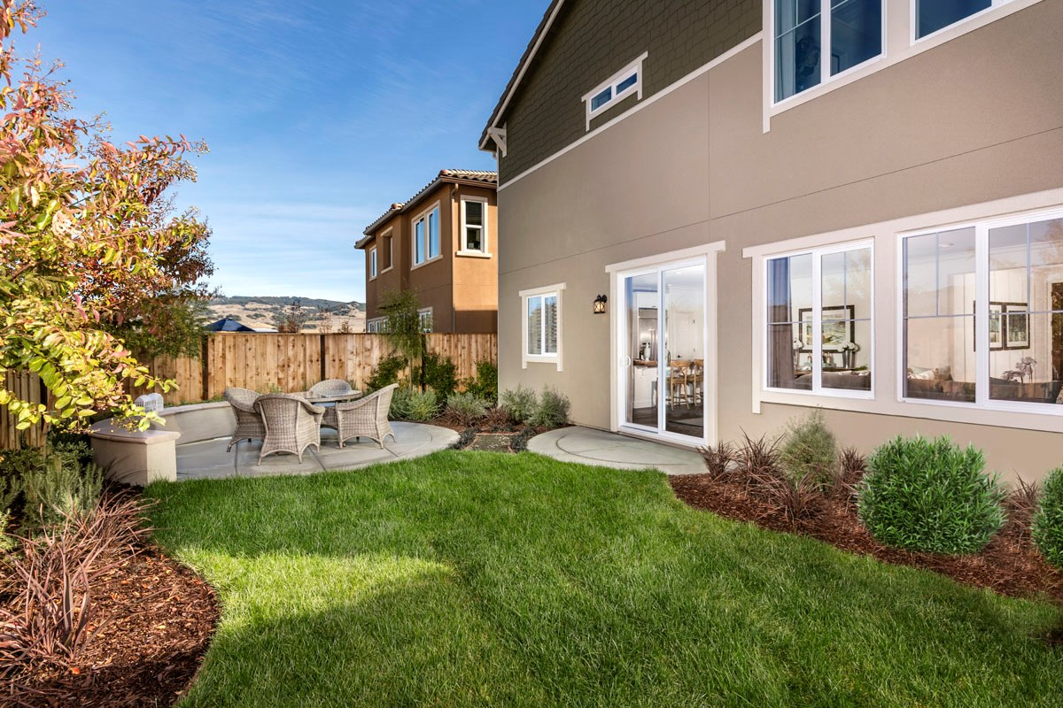 New Homes in Rohnert Park, CA - Cypress at University District Plan 1 Backyard