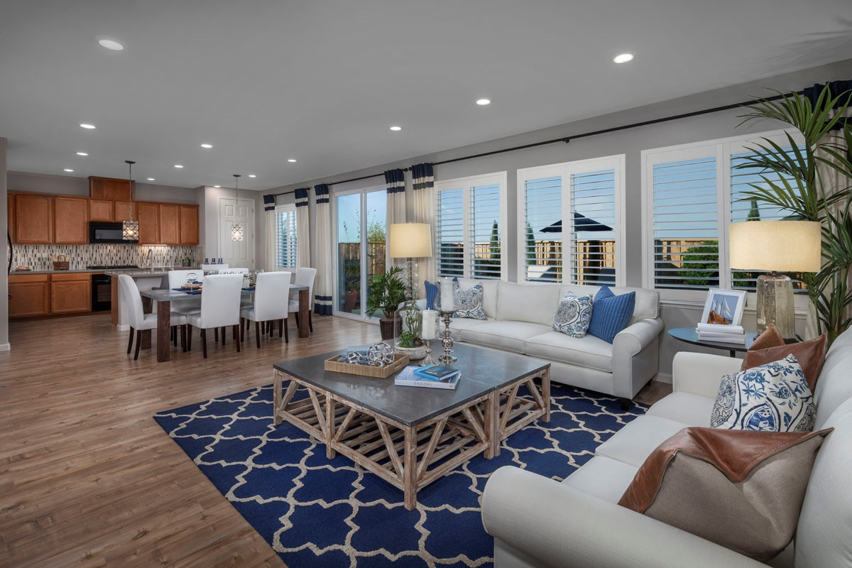 New Homes in Rohnert Park, CA - Cypress at University District Plan 2 Great Room