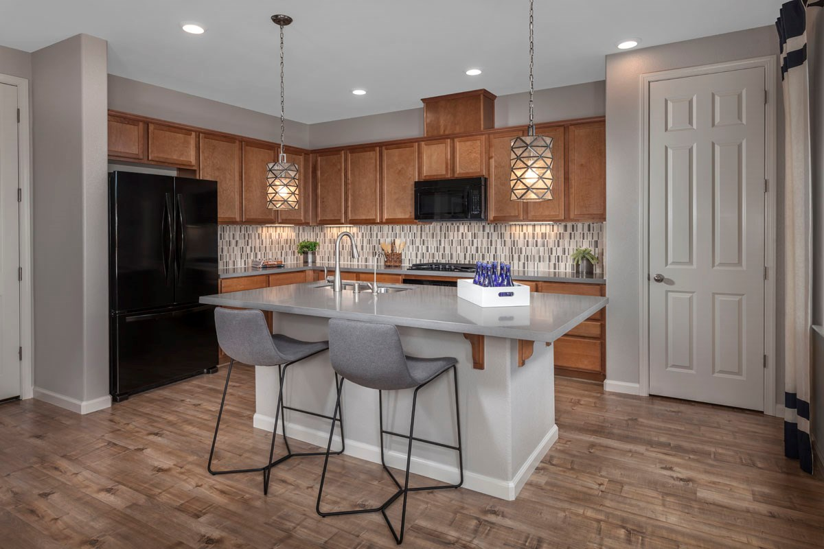 New Homes in Rohnert Park, CA - Cypress at University District Plan 2 Kitchen