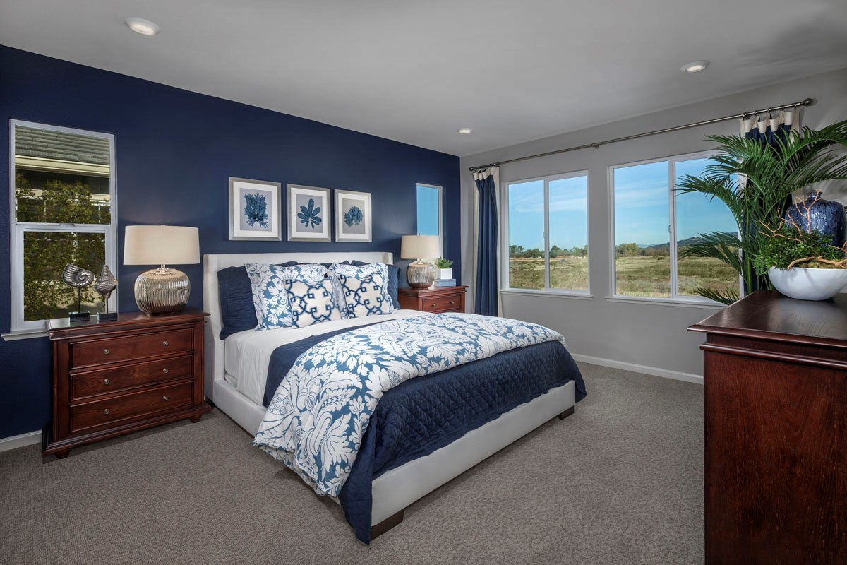 New Homes in Rohnert Park, CA - Cypress at University District Plan 2 Master Bedroom