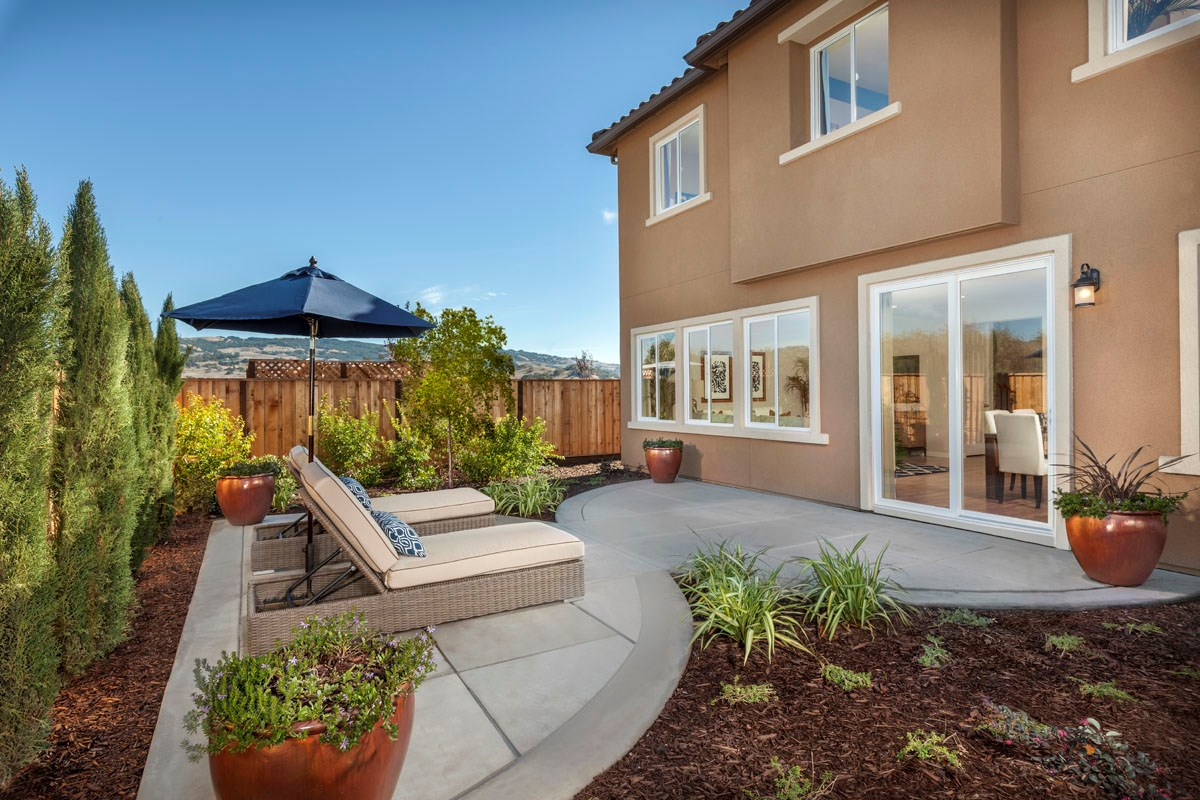 New Homes in Rohnert Park, CA - Cypress at University District Plan 2 Backyard