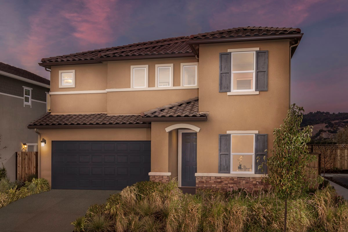 New Homes in Rohnert Park, CA - Cypress at University District Plan 2 Italian Country Elevation