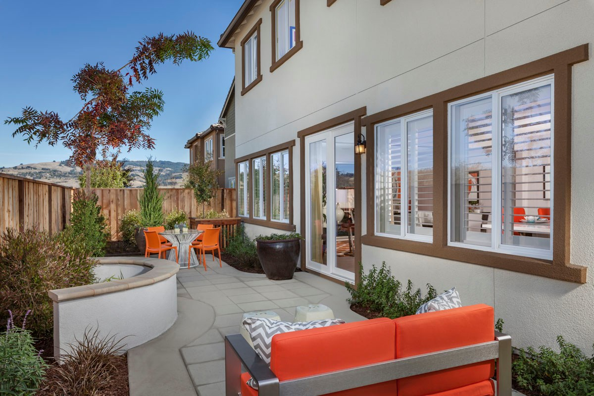 New Homes in Rohnert Park, CA - Cypress at University District Plan 3 Backyard