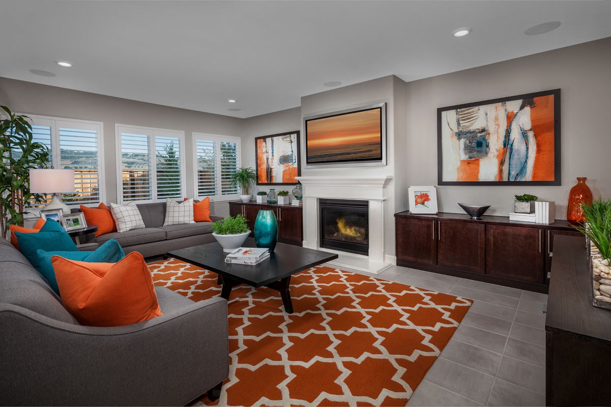 New Homes in Rohnert Park, CA - Cypress at University District Plan 3 Great Room