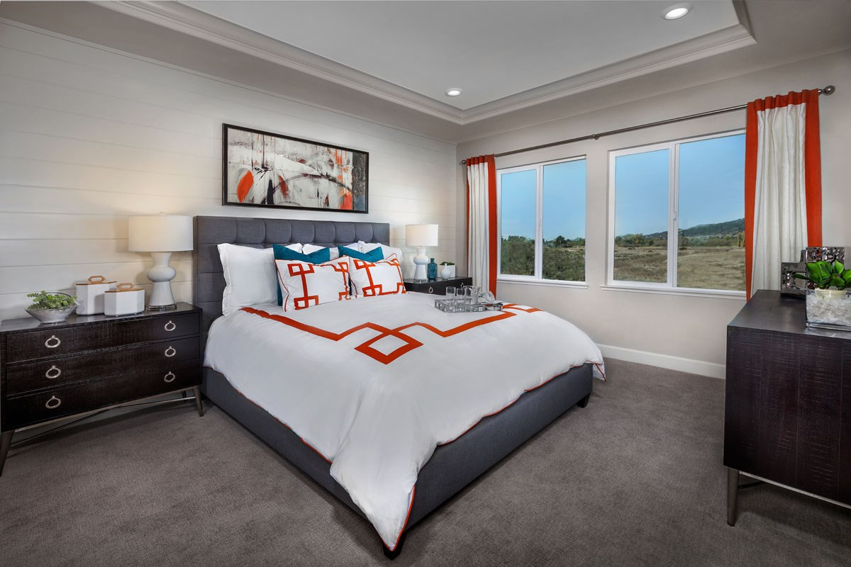 New Homes in Rohnert Park, CA - Cypress at University District Plan 3 Master Bedroom