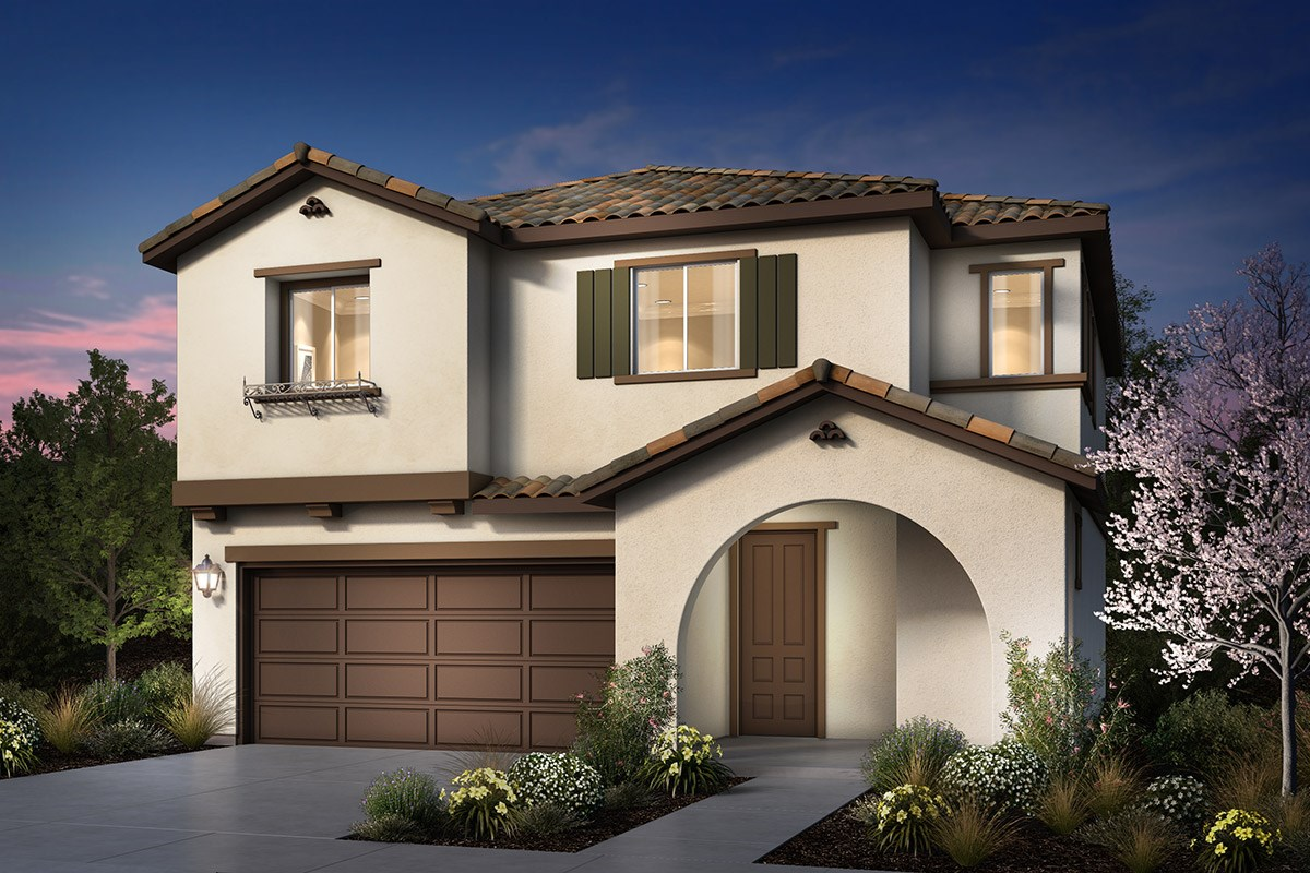 New Homes in Rohnert Park, CA - Cypress at University District Plan 1 Spanish Colonial