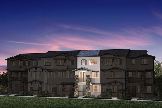 New Homes in Hayward, CA - 6-Plex Elevation 1F (Reverse)
