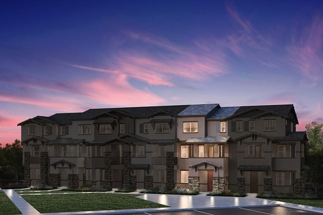 New Homes in Hayward, CA - 6-Plex Elevation 2A (Reverse)