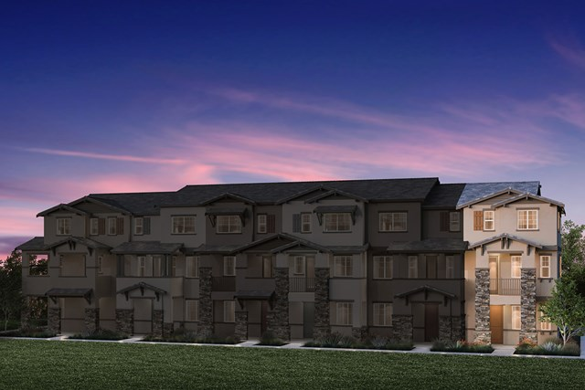 New Homes in Hayward, CA - 6-Plex Elevation 1E (Reverse)