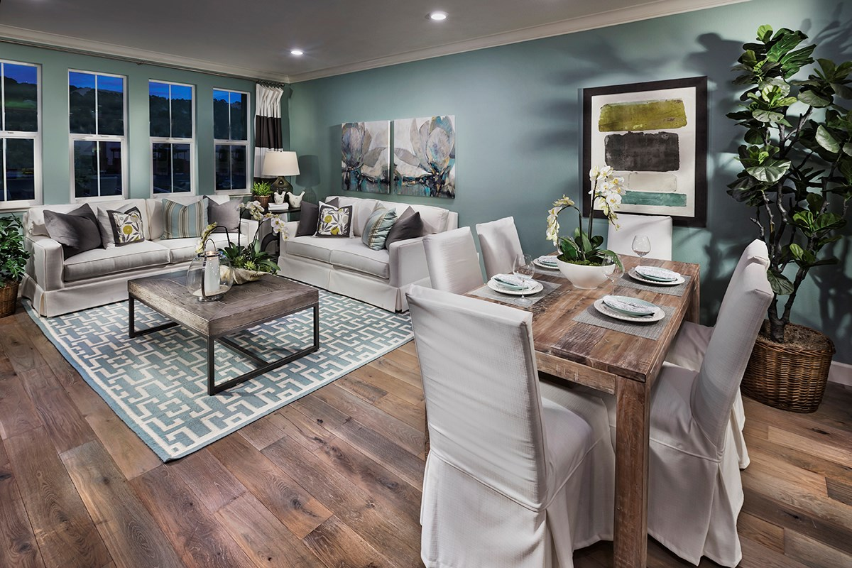 New Homes in Hayward, CA - Hideaway Plan 1 Living and Dining Room