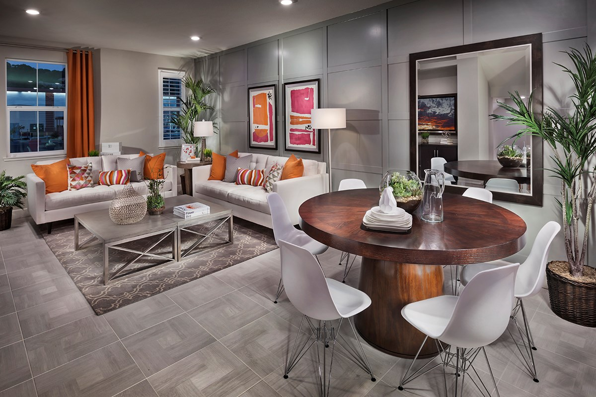 New Homes in Hayward, CA - Hideaway Plan 2 Family and Dining Room