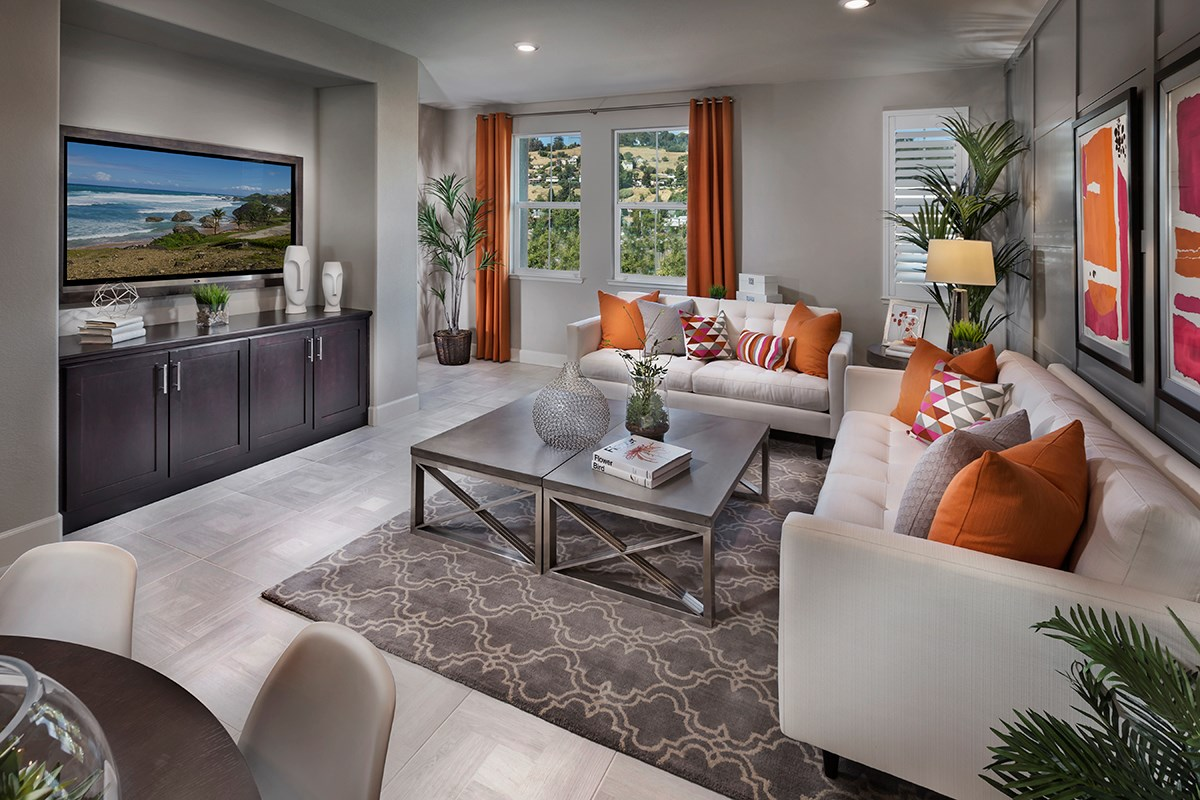 New Homes in Hayward, CA - Hideaway Plan 2 Family Room