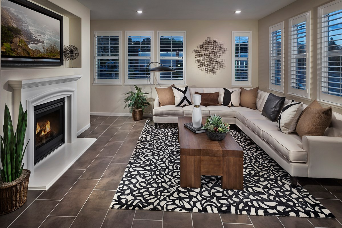 New Homes in Hayward, CA - Hideaway Plan 3 Living Room
