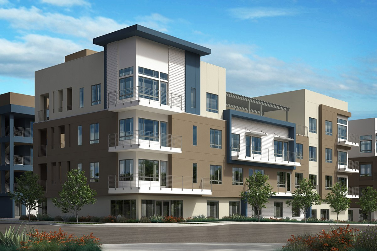 New Homes in San Jose, CA - Latitude at Communications Hill  Elevation A: 10-plex (Block 41)
