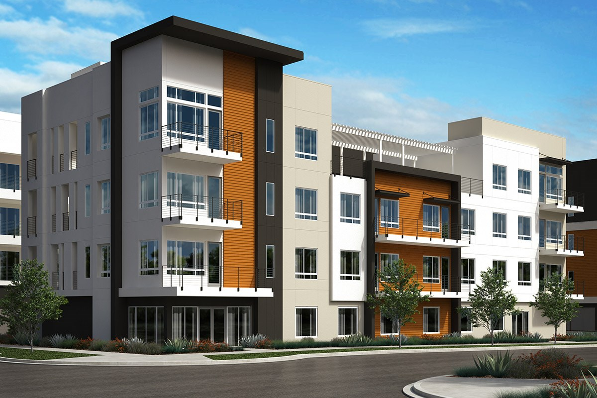 New Homes in San Jose, CA - Latitude at Communications Hill  Elevation A: 10-plex (Block 45)