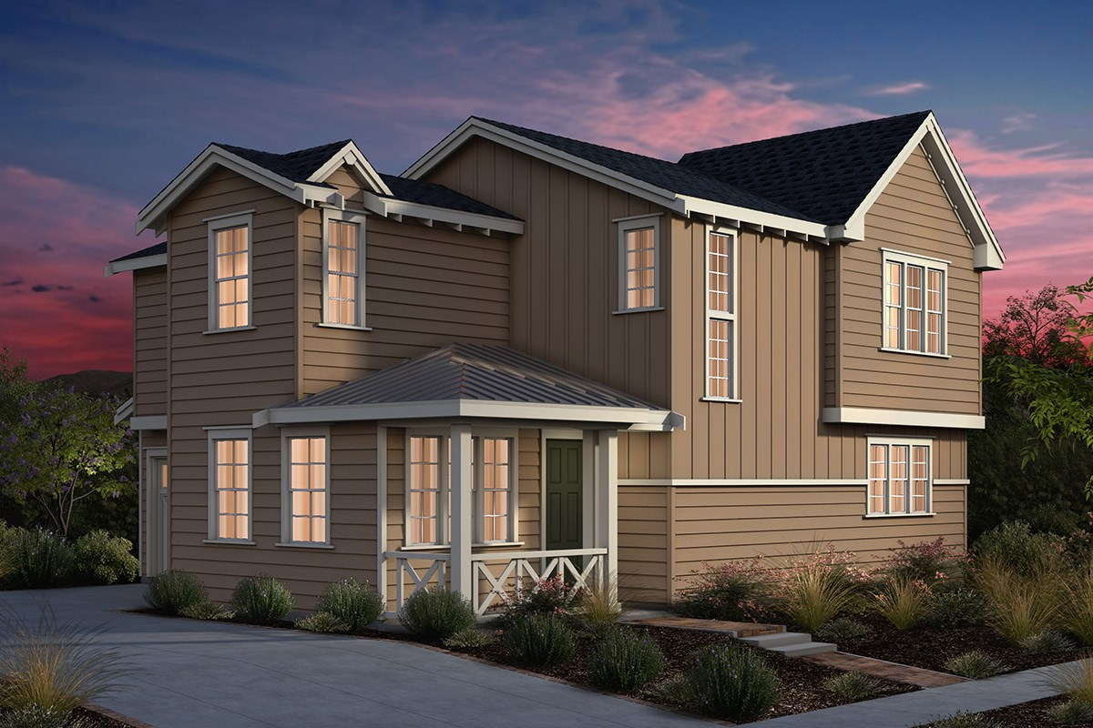 New Homes in Fremont, CA - Laurel at Patterson Ranch Plan 1 Farmhouse Elevation