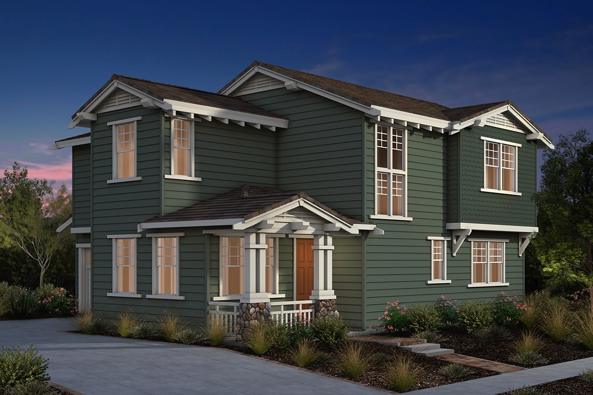 New Homes in Fremont, CA - Laurel at Patterson Ranch Plan 1 Craftsman Elevation