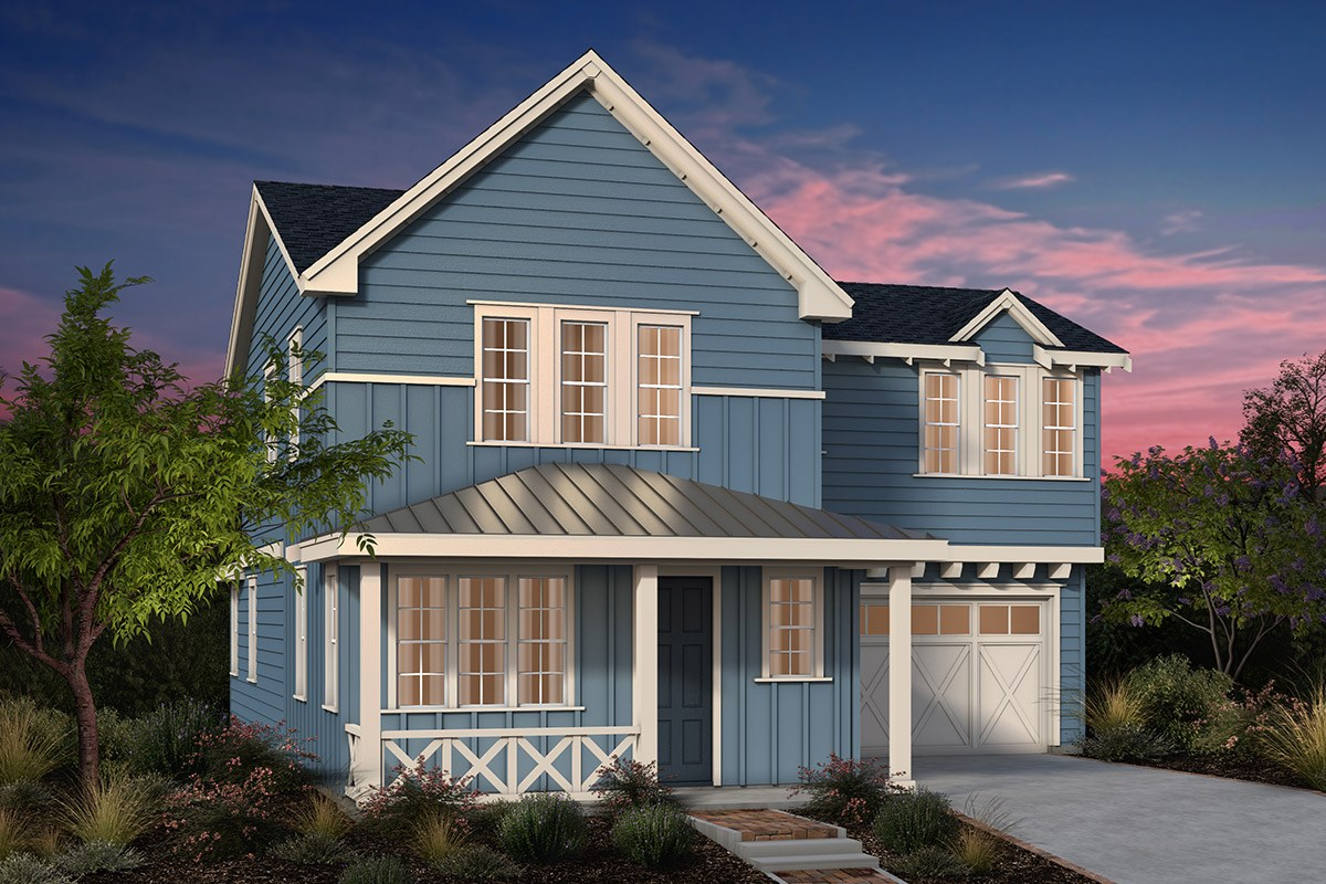 New Homes in Fremont, CA - Laurel at Patterson Ranch Plan 3 Farmhouse Elevation