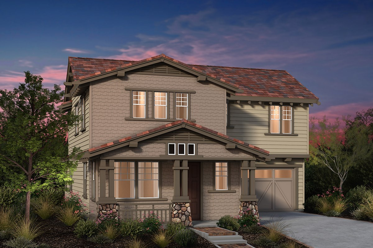 New Homes in Fremont, CA - Laurel at Patterson Ranch Plan 3 Craftsman Elevation