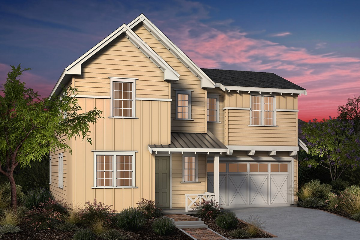 New Homes in Fremont, CA - Laurel at Patterson Ranch Plan 4 Farmhouse Elevation