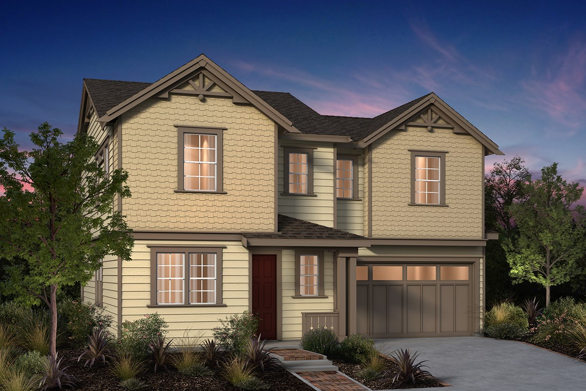 New Homes in Fremont, CA - Laurel at Patterson Ranch Plan 4 Victorian Elevation