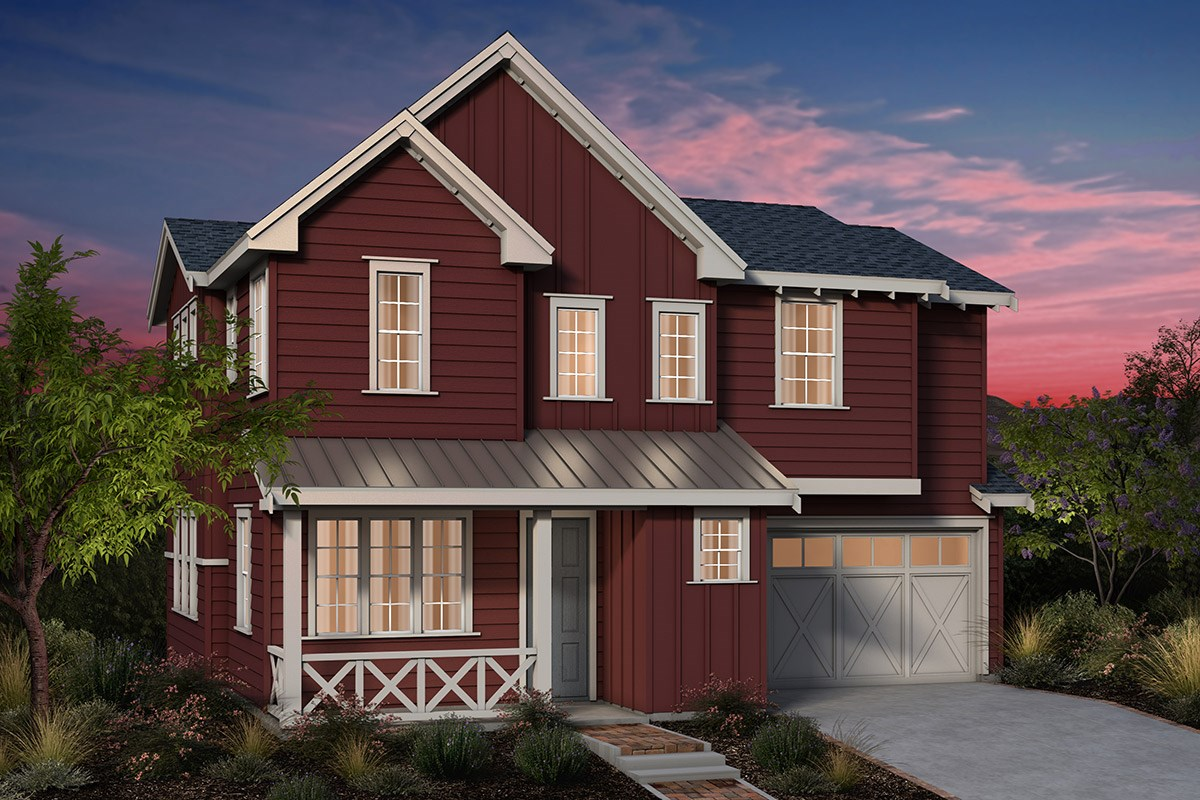 New Homes in Fremont, CA - Laurel at Patterson Ranch Plan 2 Farmhouse Elevation