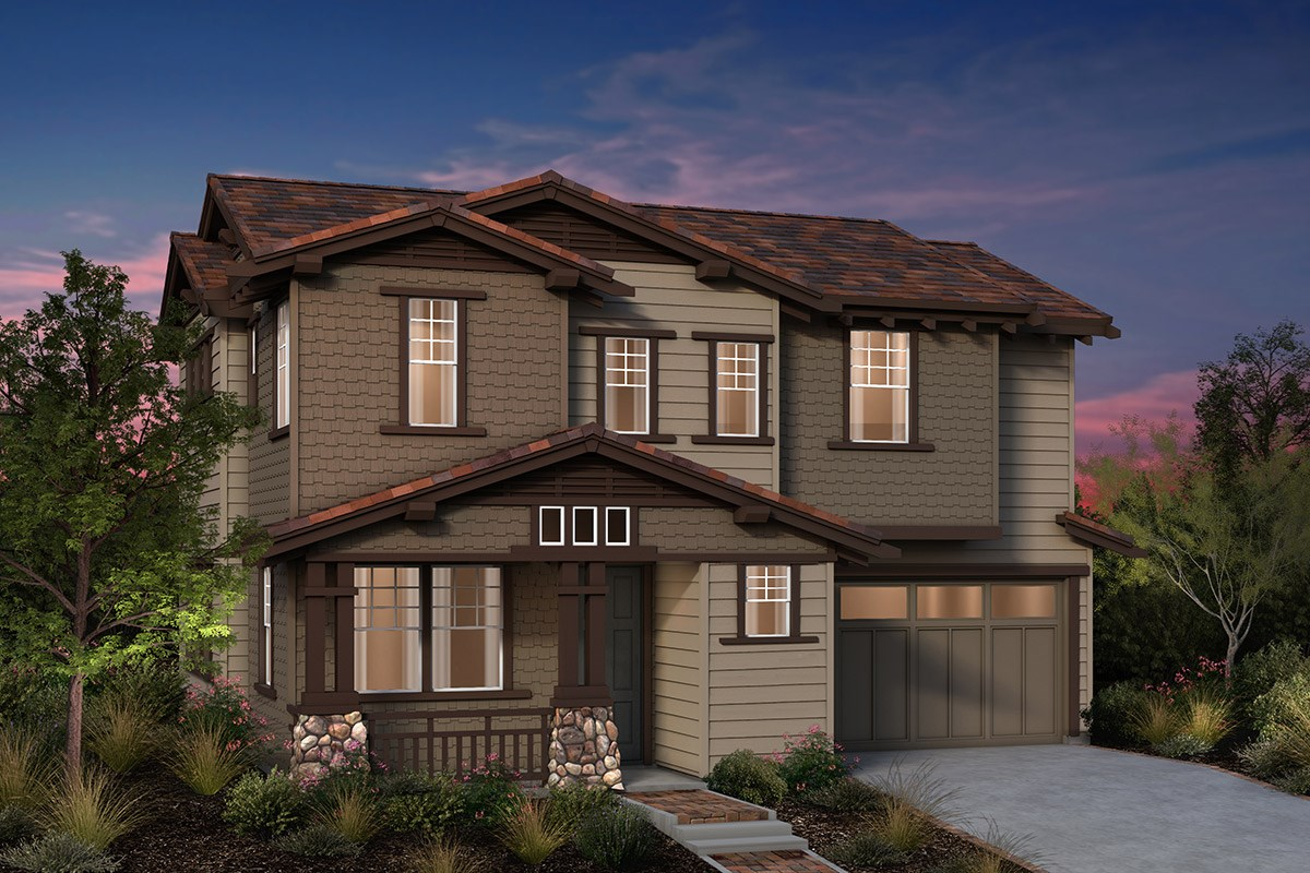 New Homes in Fremont, CA - Laurel at Patterson Ranch Plan 2 Craftsman Elevation