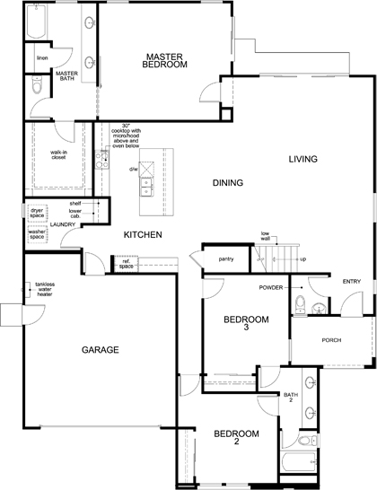 plan 3  u2013 new home floor plan in live oak at university district by kb home