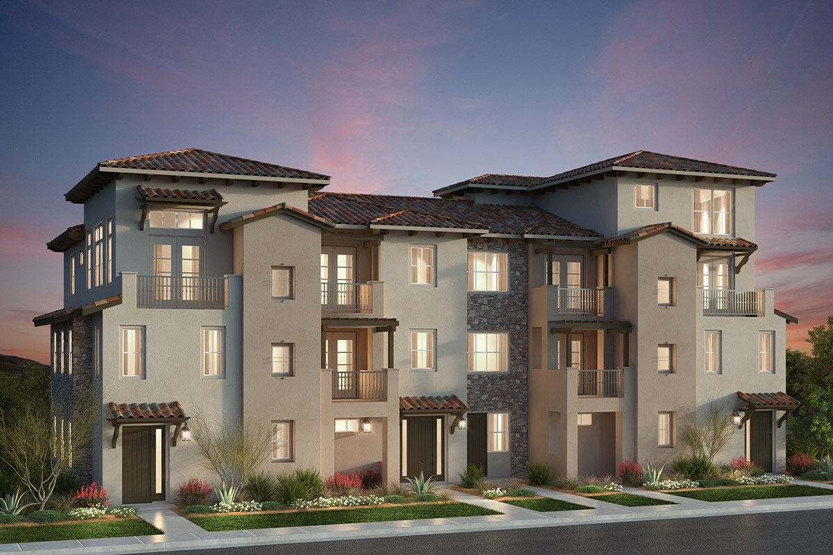 New Homes in San Jose, CA - Metro II at Communications Hill 5-Plex Building D