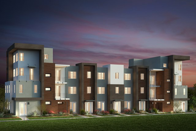 New Homes in San Jose, CA - Contemporary 'B': 7-Plex (Building)