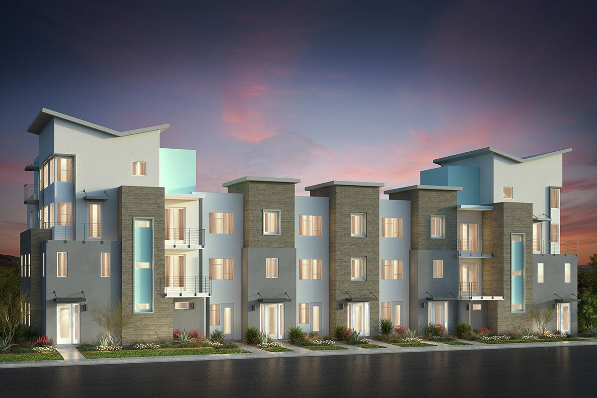 New Homes in San Jose, CA - Metro II at Communications Hill 7-Plex Building E