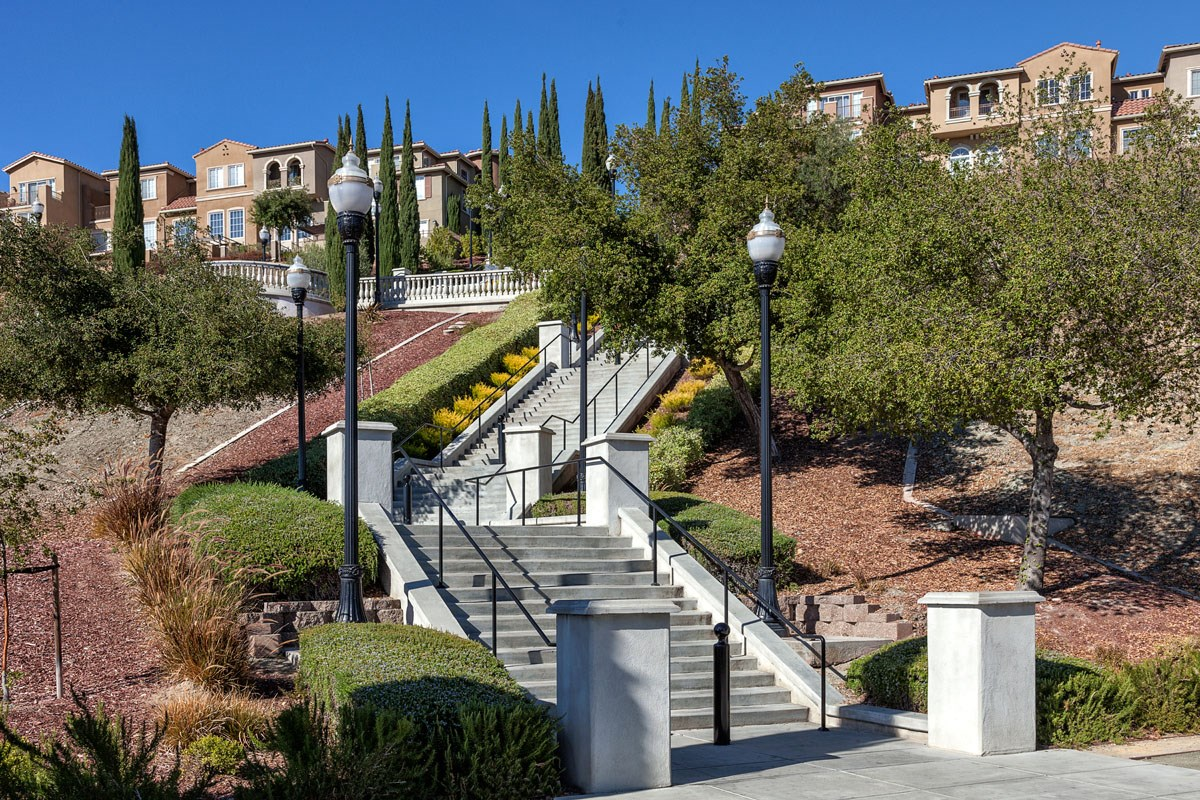 New Homes in San Jose, CA - Metro at Communications Hill Communications Hill Grand Staircase