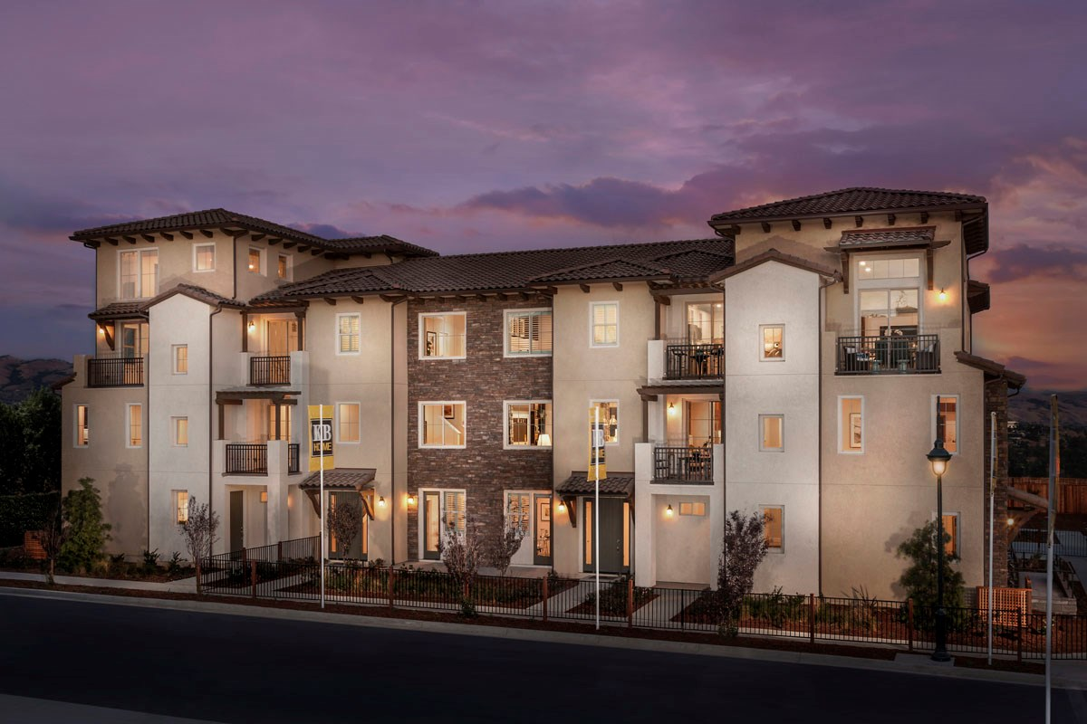 New Homes in San Jose, CA - Metro at Communications Hill 6-Plex Mediterranean Elevation