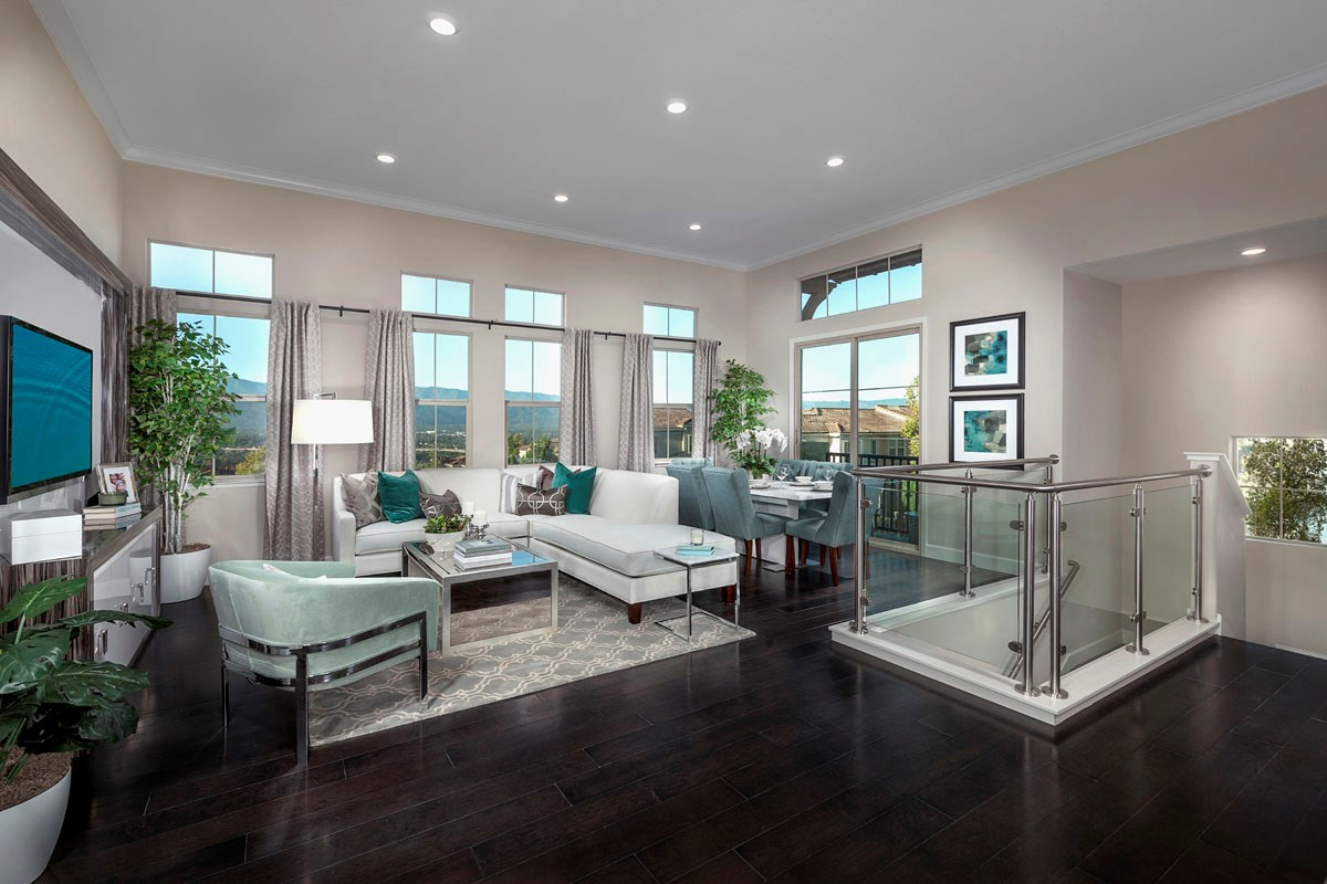 New Homes in San Jose, CA - Metro II at Communications Hill Plan 1 Great Room