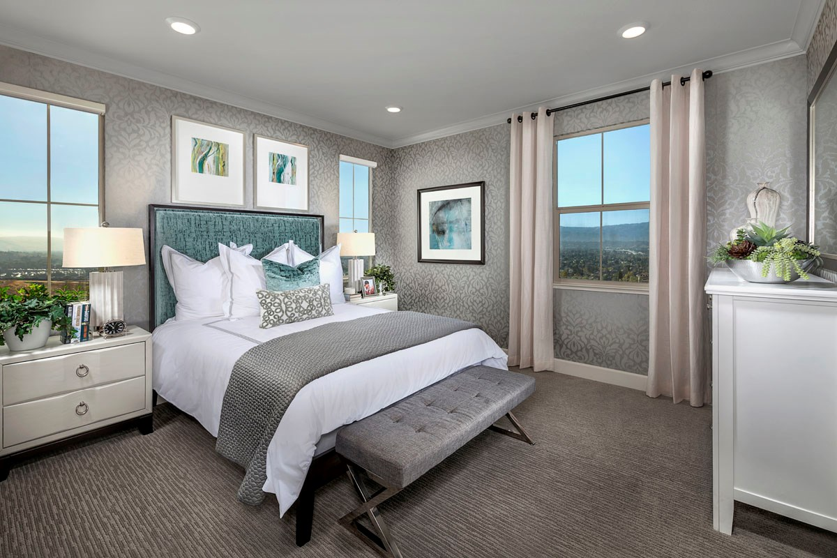 New Homes in San Jose, CA - Metro at Communications Hill Plan 1 Master Bedroom