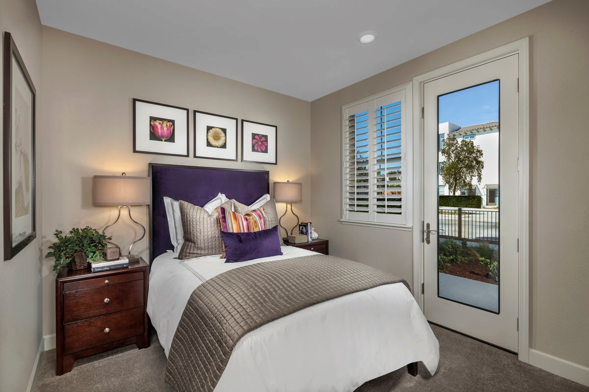 New Homes in San Jose, CA - Metro at Communications Hill Plan 3 Bedroom 4 and Patio