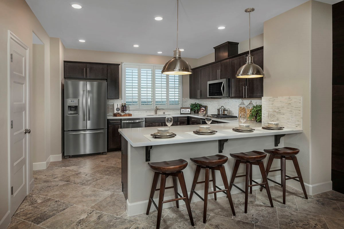New Homes in San Jose, CA - Metro II at Communications Hill Plan 3 Kitchen