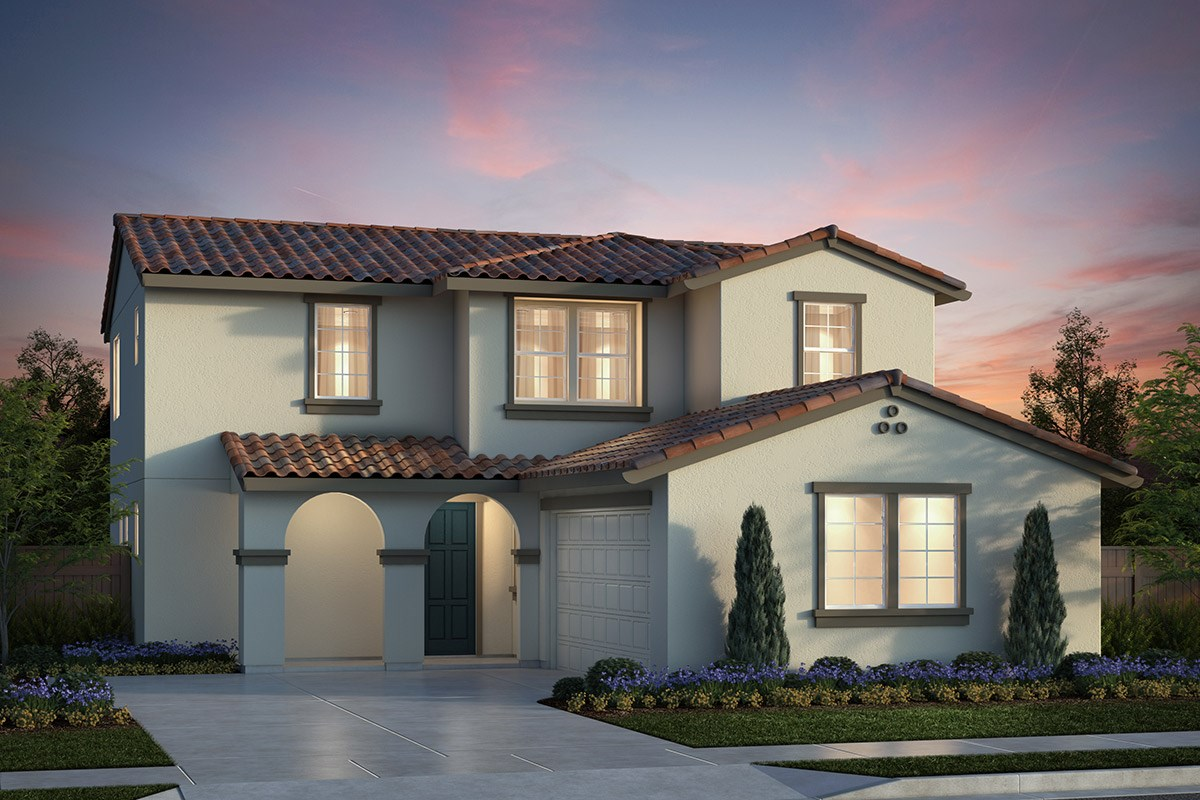New Homes in Salinas, CA - Monte Bella Plan 3 Spanish Elevation