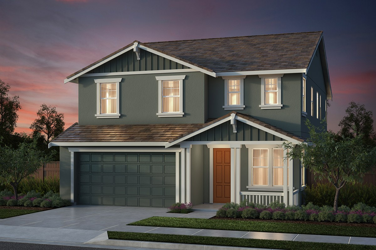 New Homes in Salinas, CA - Monte Bella Plan 4 Craftsman Elevation