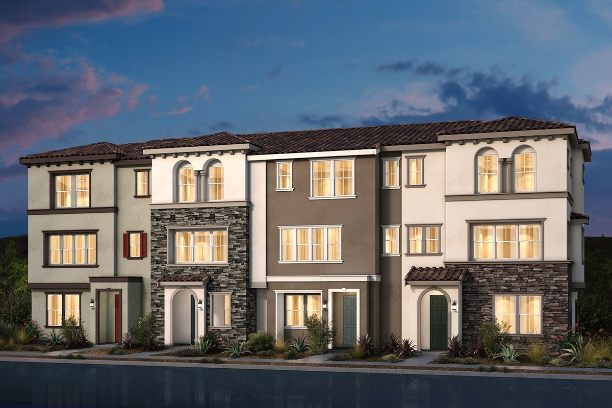 New Homes in Morgan Hill, CA - Monterey Parque 4-Plex Italianate Elevation