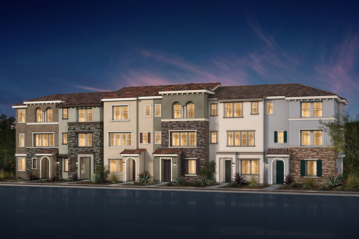New Homes in Morgan Hill, CA - Monterey Parque 6-Plex Italianate Elevation