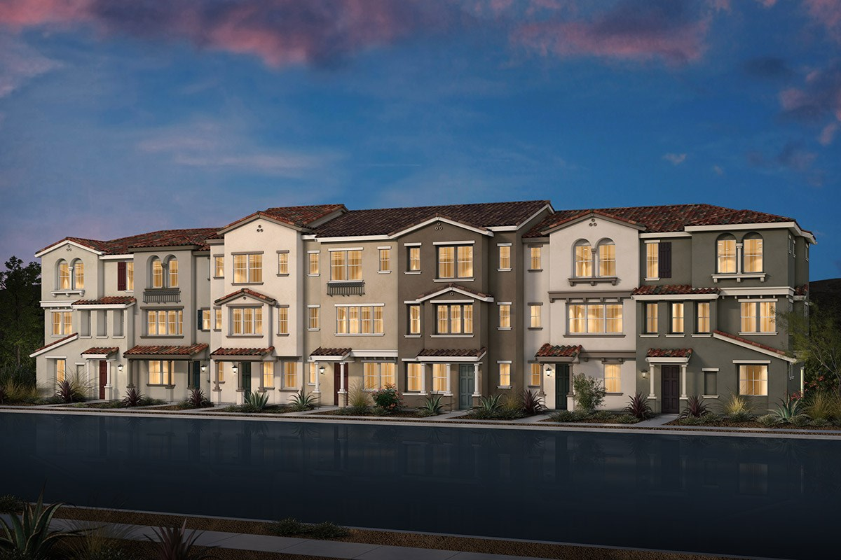 New Homes in Morgan Hill, CA - Monterey Parque 7-Plex Spanish Elevation