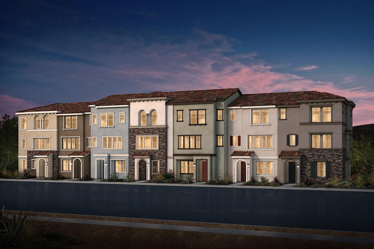 New Homes in Morgan Hill, CA - Monterey Parque 7-Plex Italianate Elevation