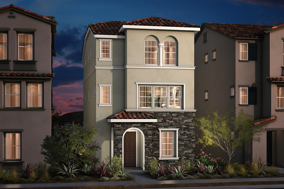 Plan 3 Modeled New Home Floor Plan In Monterey Parque By