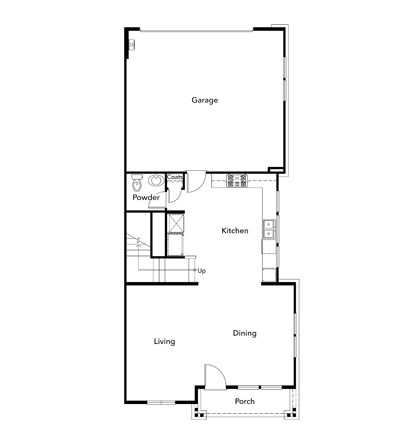 New Homes in Moraga, CA - Plan 2 , First Floor