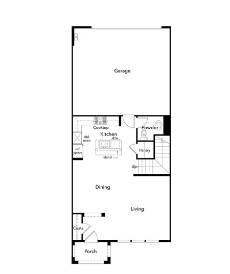 New Homes in Moraga, CA - Plan 4, First Floor