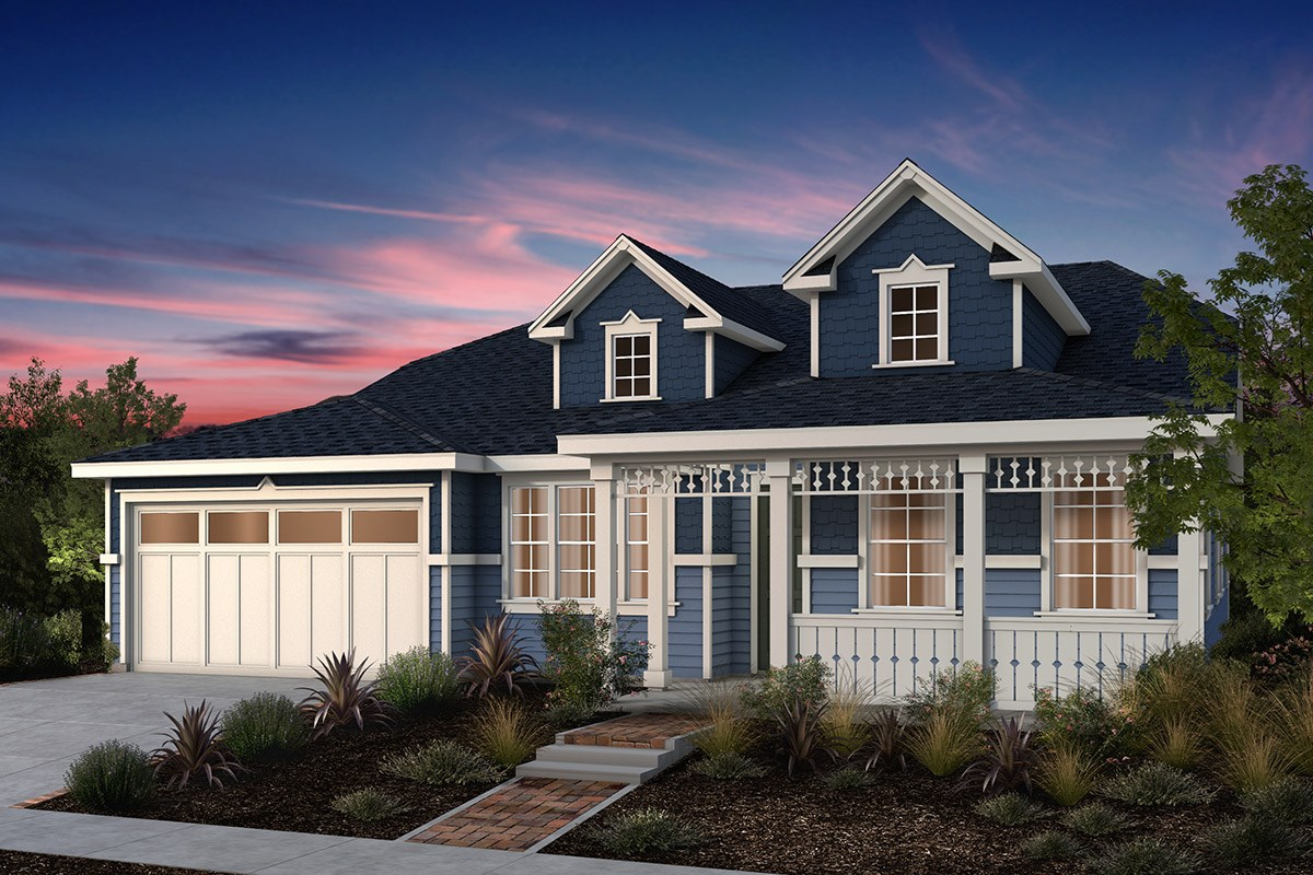New Homes in Fremont, CA - North Grove at Patterson Ranch Plan 1 Victorian Elevation